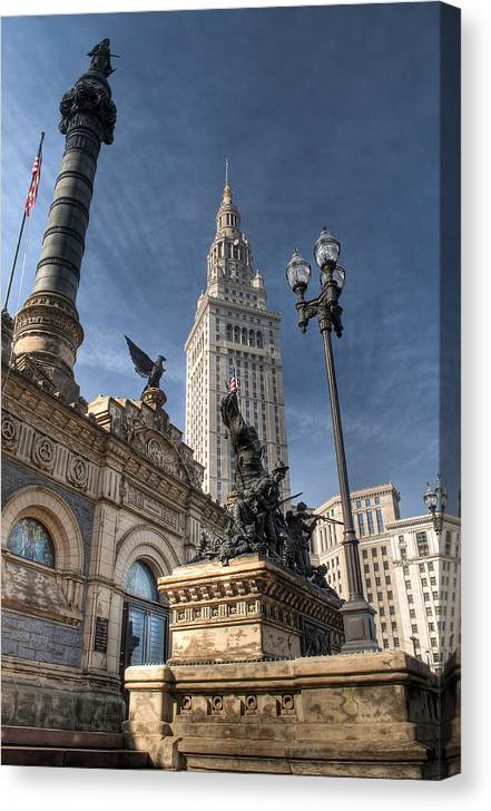 2x3 Canvas Print featuring the photograph Soldiers' And Sailors' Monument by At Lands End Photography