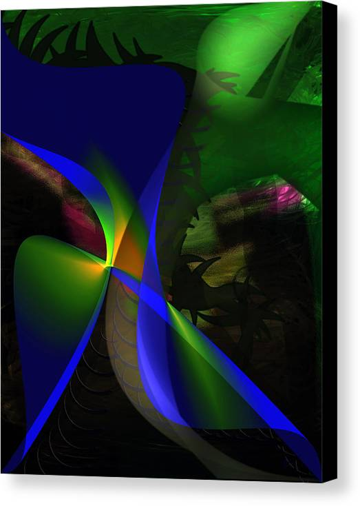 Contemporary Canvas Print featuring the painting A Dream by Gerlinde Keating - Galleria GK Keating Associates Inc