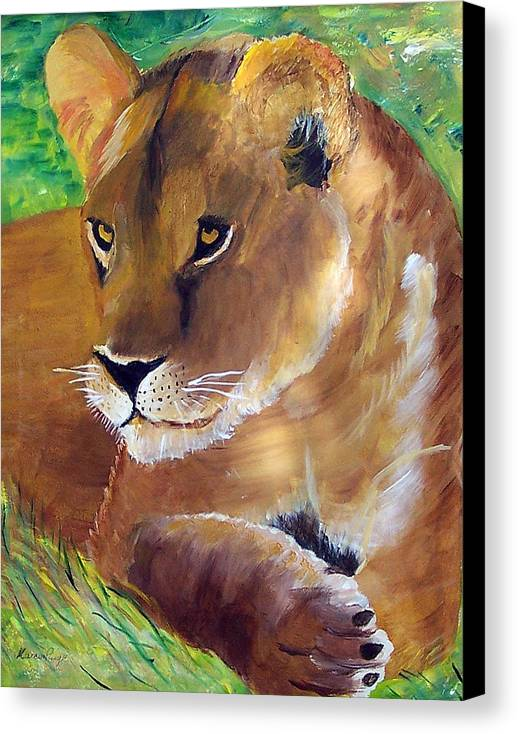 Animal Canvas Print featuring the painting Princess by Marcia Paige