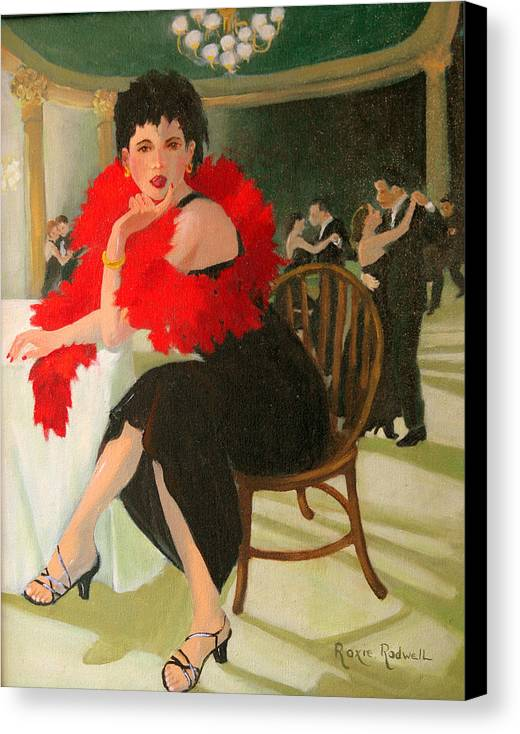 Figure Canvas Print featuring the painting Sitting This One Out by Roxanne Rodwell