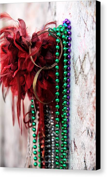 Earrings For Marie Canvas Print featuring the photograph Earrings For Marie by John Rizzuto