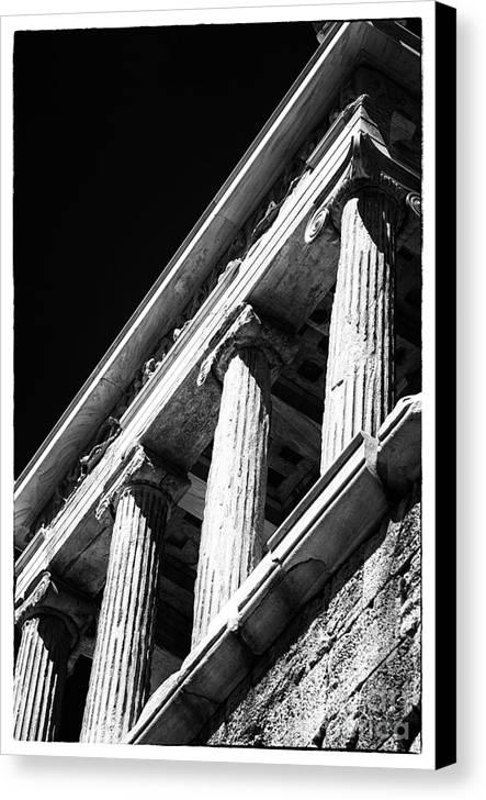 Greek Columns Canvas Print featuring the photograph Greek Columns by John Rizzuto