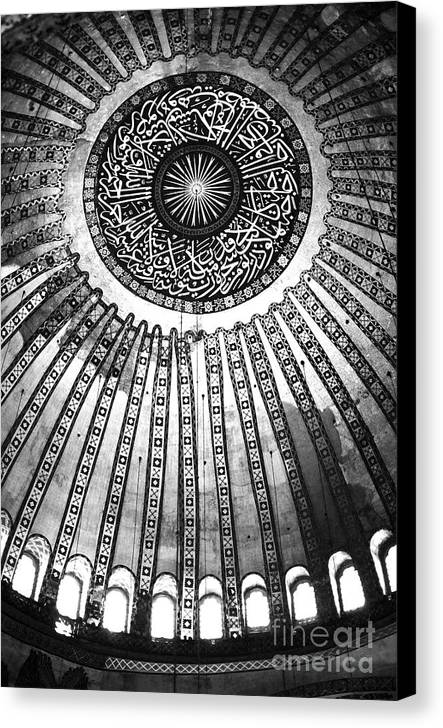 Historic Sophia Ceiling Canvas Print featuring the photograph Historic Sophia Ceiling by John Rizzuto