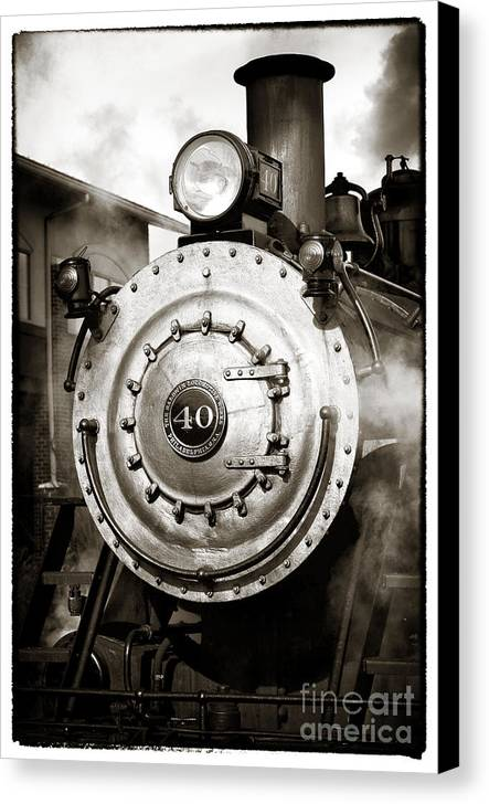 Train Face Canvas Print featuring the photograph Train Face by John Rizzuto
