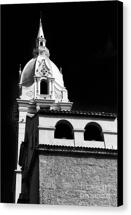 Cathedral In Cartagena Canvas Print featuring the photograph Cathedral In Cartagena by John Rizzuto