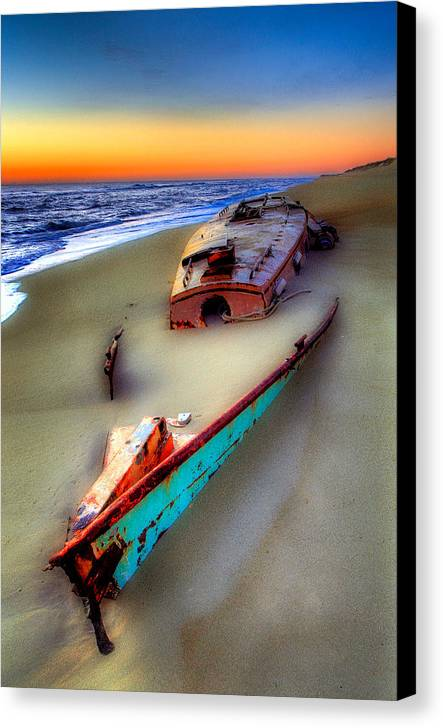 North Carolina Canvas Print featuring the photograph Beached Beauty by Dan Carmichael