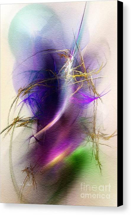 Abstract Digital Fractal Digital Framed Prints Canvas Canvas Print featuring the digital art Color Snare by Carolyn Staut