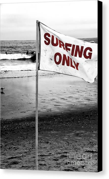 Surfing Only Fusion Canvas Print featuring the photograph Surfing Only Fusion by John Rizzuto