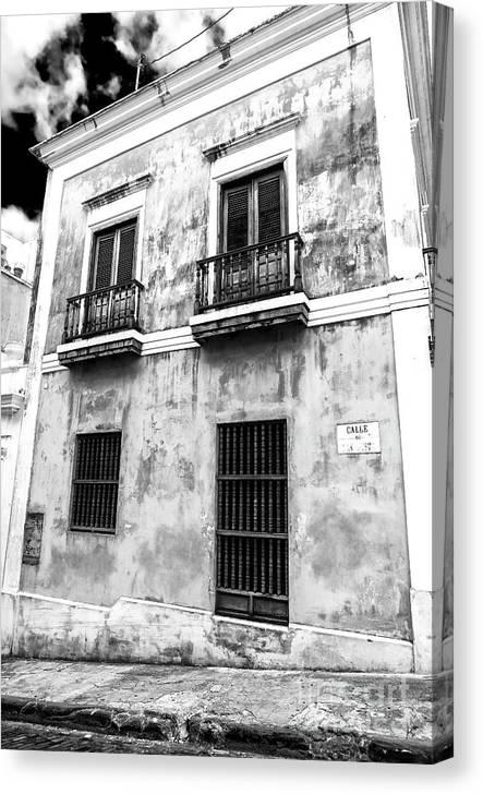 San Juan Living Canvas Print featuring the photograph Old San Juan Living by John Rizzuto