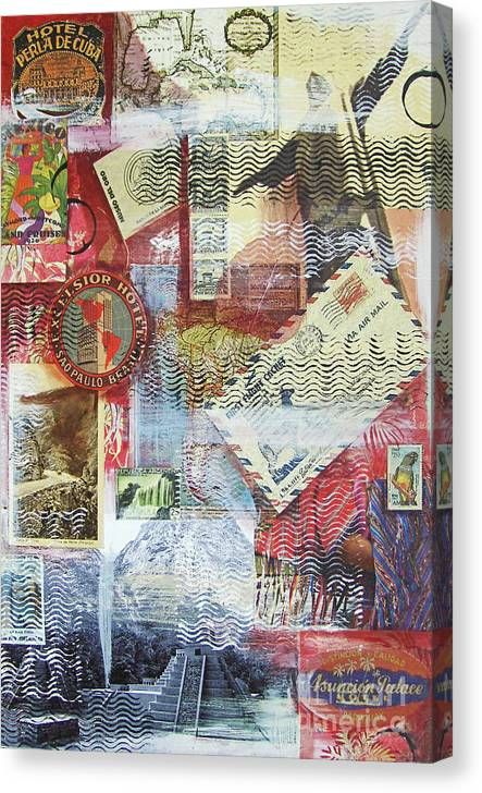 Travel Canvas Print featuring the mixed media South And Central America by Leigh Banks