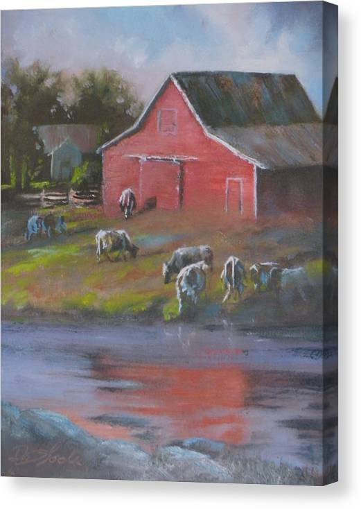 Farms Canvas Print featuring the painting Harmony by Mia DeLode