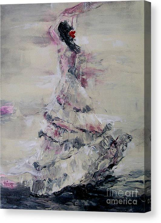 Figurative Canvas Print featuring the painting Ole by Tina Siddiqui