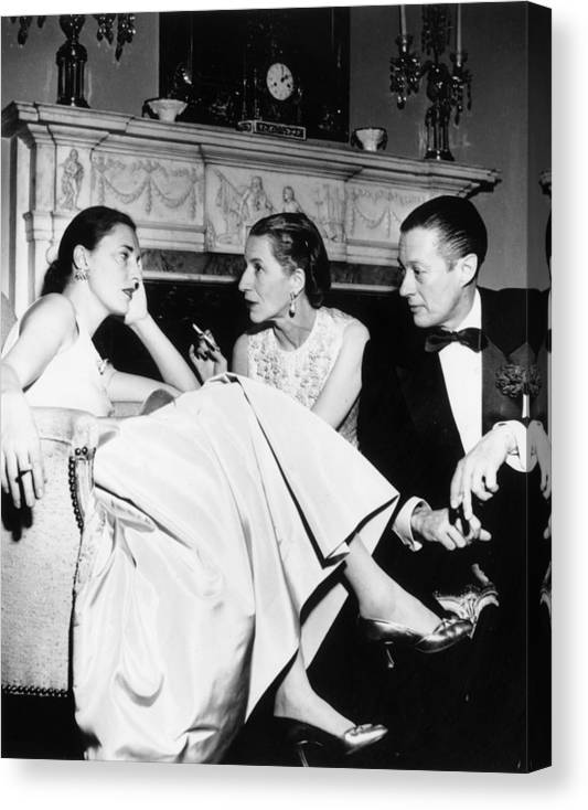 Slim Keith Canvas Print featuring the photograph Park Avenue Party by Slim Aarons