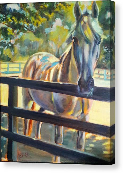Canvas Print featuring the painting Hot and Humid by Kaytee Esser