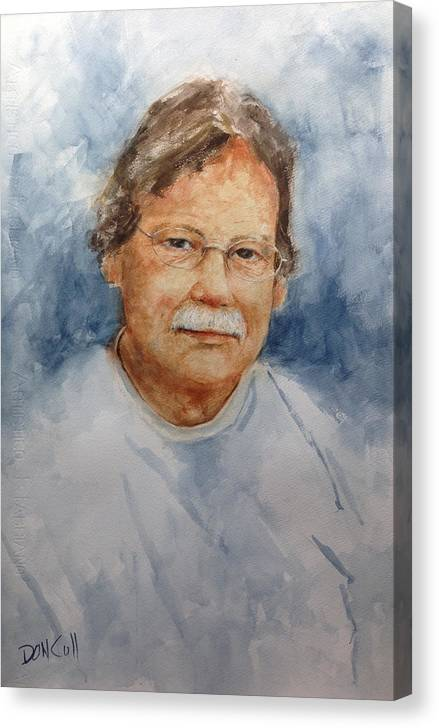 Portraits Canvas Print featuring the painting Mike by Don Cull
