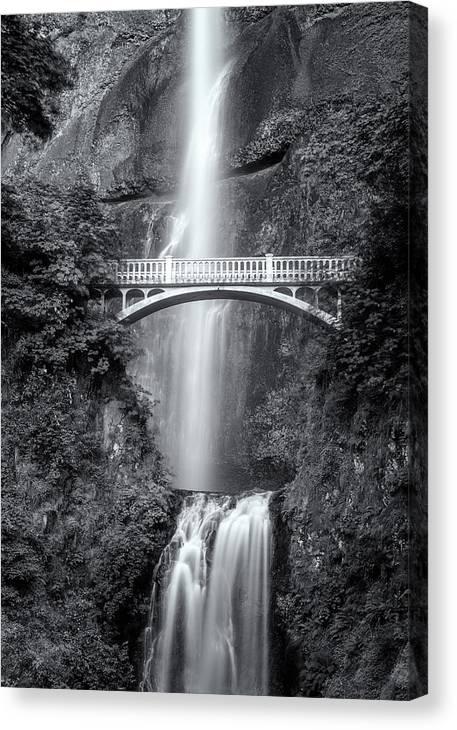 Multnomah Falls Black and White by Matt Hammerstein