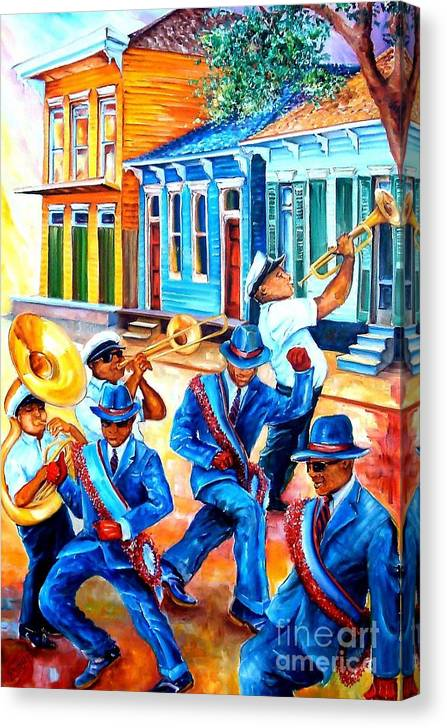 Second Line in Treme by Diane Millsap