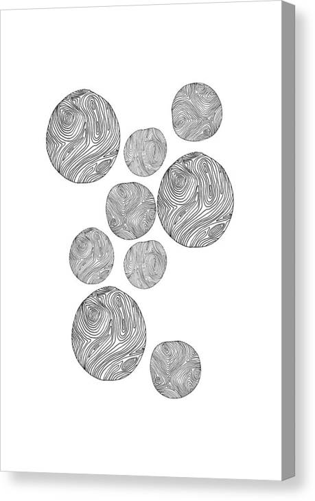 Canvas Print featuring the drawing Wood Print Vertical by Cortney Herron
