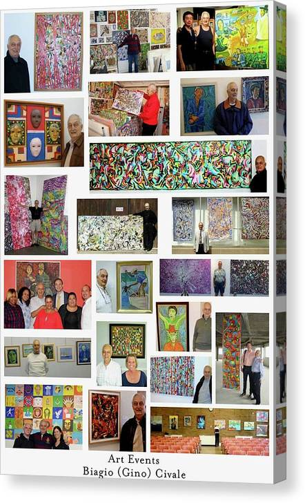 Art Events Canvas Print featuring the photograph Art Events by Biagio Civale