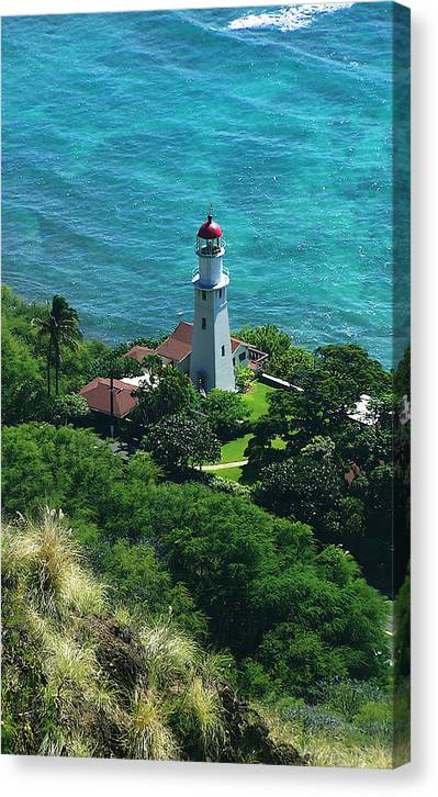 Oahu Canvas Print featuring the photograph Oahu Lighthouse by Michael Lewis