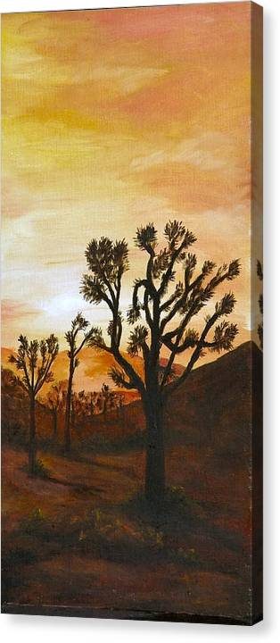 Sunset Canvas Print featuring the painting Desert Sunset II by Merle Blair