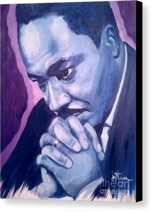 Mlk Canvas Print featuring the painting Martin -forever Loved by Joyce Hayes