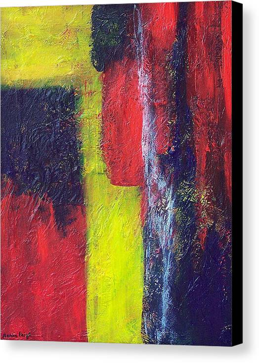 Abstract Canvas Print featuring the painting Moods by Marcia Paige