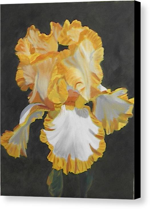Floral Canvas Print featuring the painting Trimmed In Yellow 2 by Robert Tower