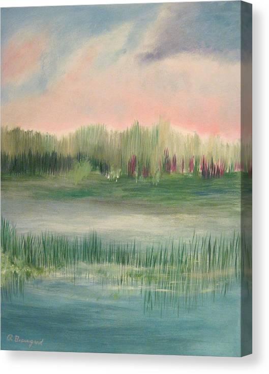 Wetland Solitude Canvas Print featuring the painting Wetland Solitude by Richard Beauregard