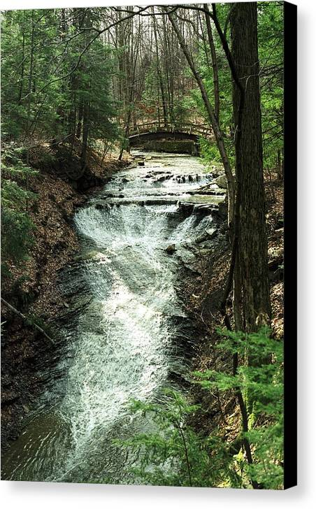 Water Canvas Print featuring the photograph 070506-36 by Mike Davis