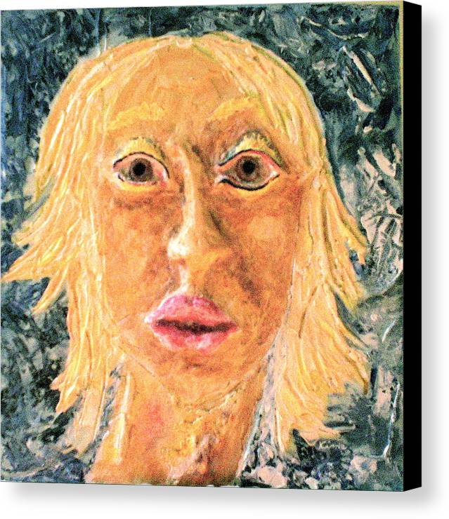 Portraits Canvas Print featuring the painting Inanna by Kime Einhorn