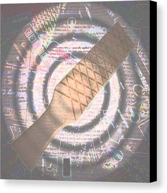 Credit Canvas Print featuring the photograph Spanking Of Credit by Jennifer Ott
