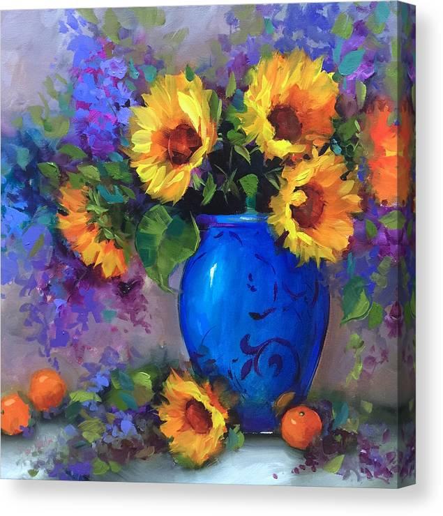 Heart's Glow Sunflowers and Cuties by Nancy Medina