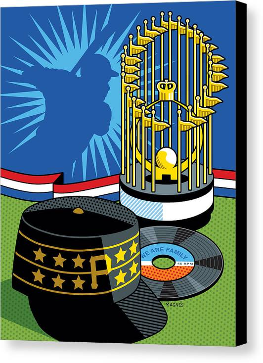 Pittsburgh Pirates Canvas Print featuring the digital art 1979 Pirates by Ron Magnes