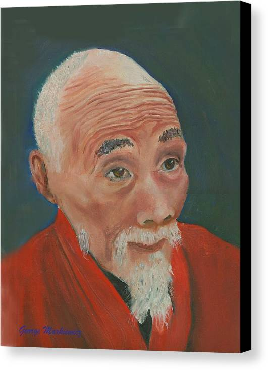 Portrait Canvas Print featuring the print Ancient Wisdom by George Markiewicz