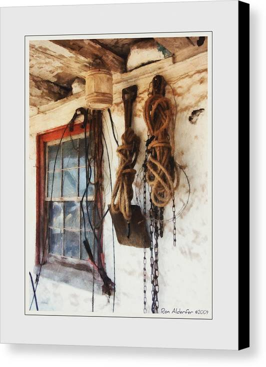 Art Canvas Print featuring the photograph Barn Window by Ron Alderfer