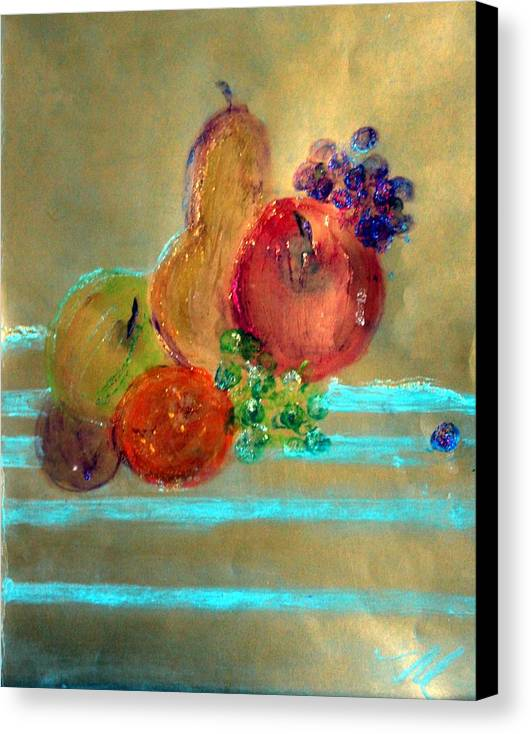 Fruit Canvas Print featuring the painting Summer Fruit by Michela Akers