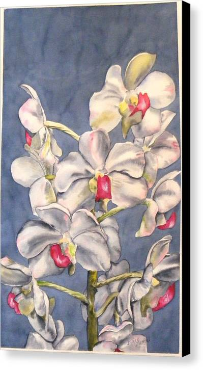 Floral Canvas Print featuring the painting Orchids by Diane Ziemski