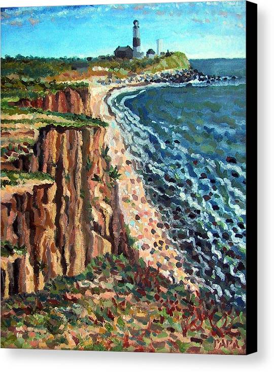 Dunes Canvas Print featuring the painting Dunes At Montauk by Ralph Papa
