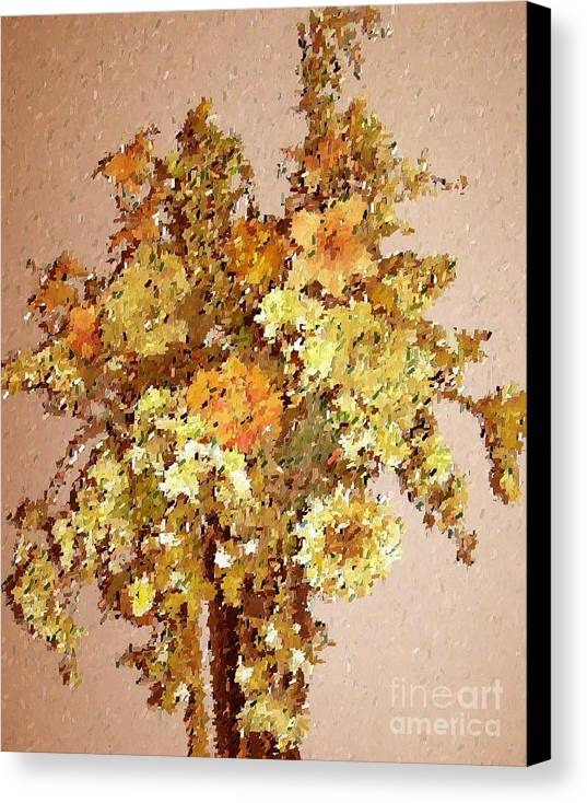 Floral Canvas Print featuring the print Fall Bouquet by Don Phillips