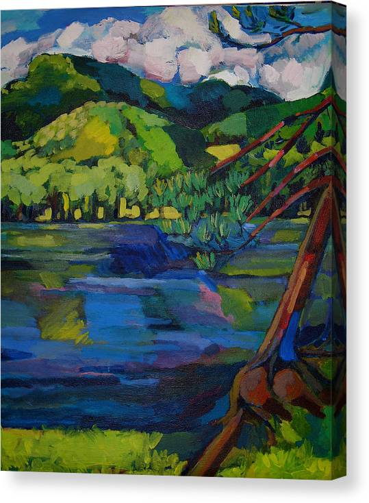 Landscape Canvas Print featuring the painting Woodstock by Doris Lane Grey
