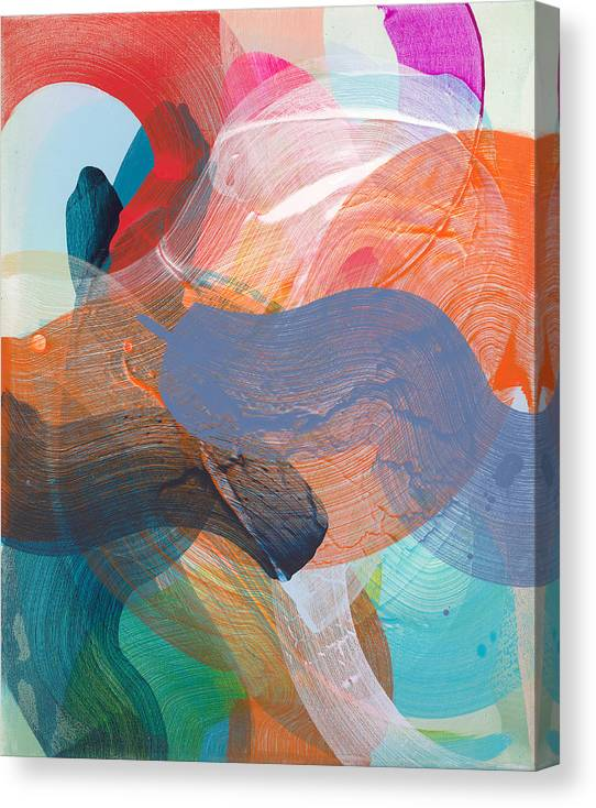 Abstract Canvas Print featuring the painting Like A Gypsy by Claire Desjardins