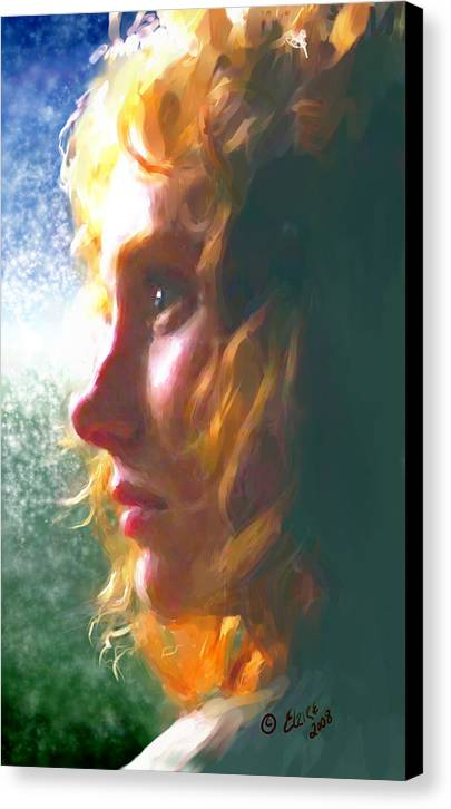 Redhead Canvas Print featuring the painting Enigma by Elzire S
