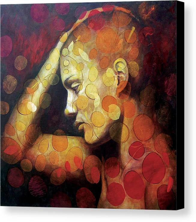 Portrait Canvas Print featuring the painting Emotions by Karina Llergo