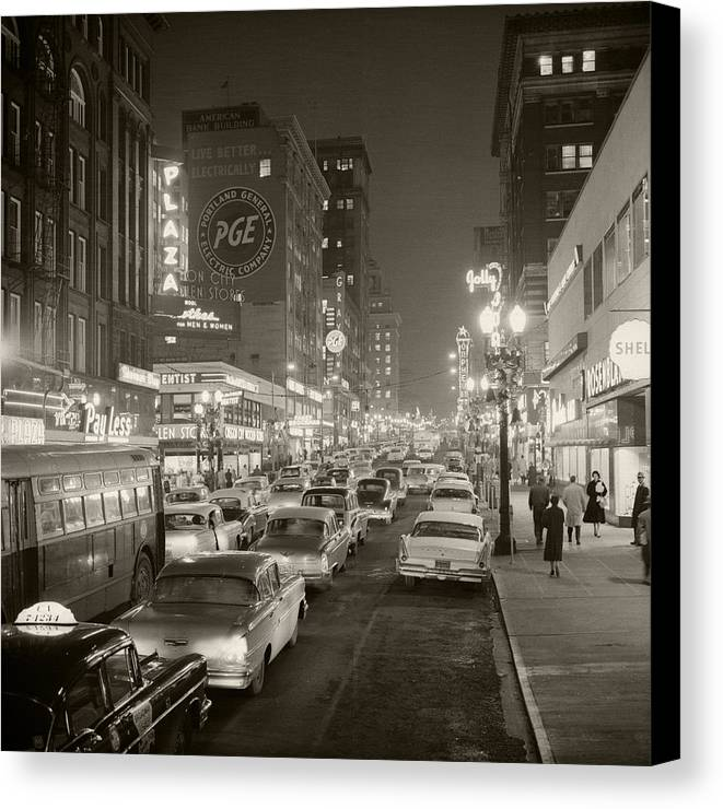 Canvas Print featuring the photograph Broadway by Unknown