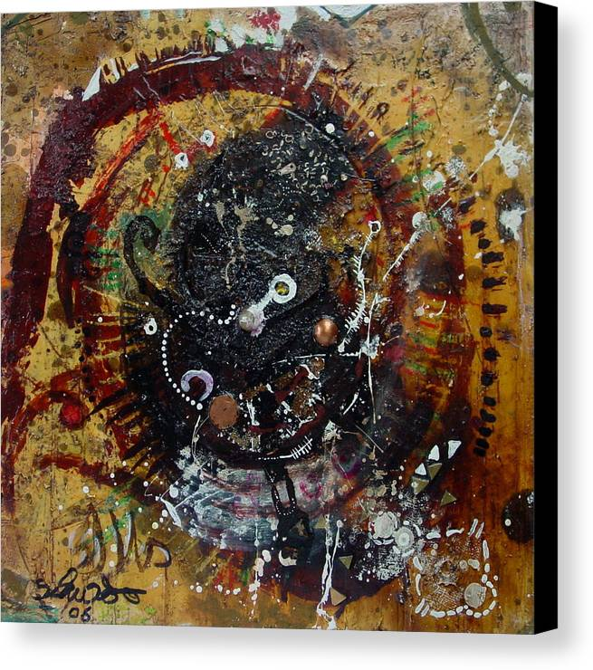 Contemporary African Art Canvas Print featuring the mixed media Eye 6 by Mohamed-saeed Omer