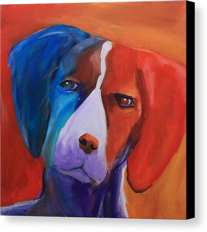 Dog Canvas Print featuring the painting Hound by Jennifer Hamilton