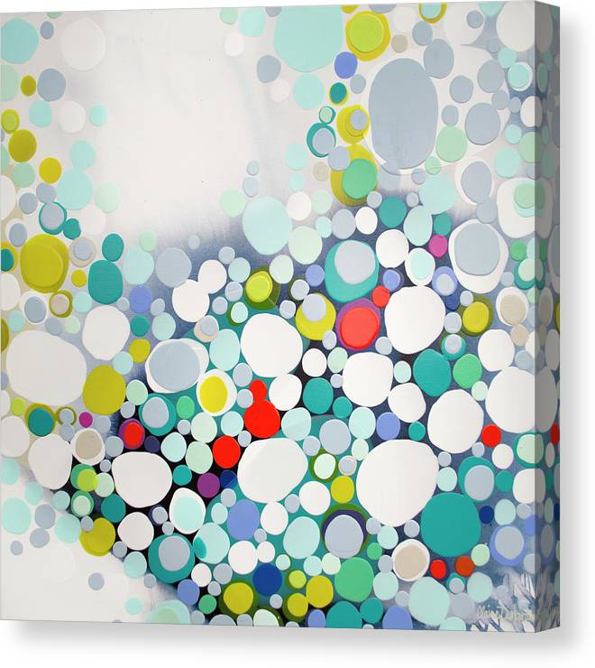 Abstract Canvas Print featuring the painting Cross The Line by Claire Desjardins