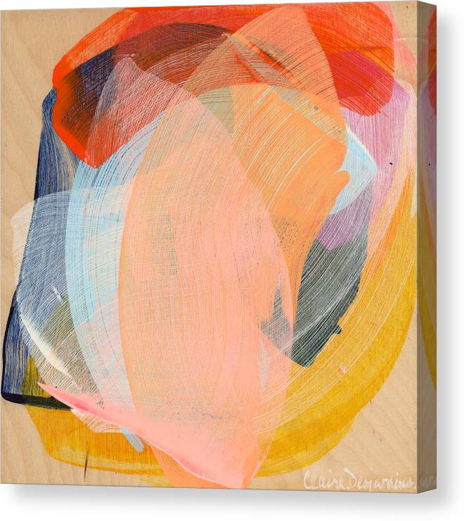 Abstract Canvas Print featuring the painting Out Of The Blue 02 by Claire Desjardins