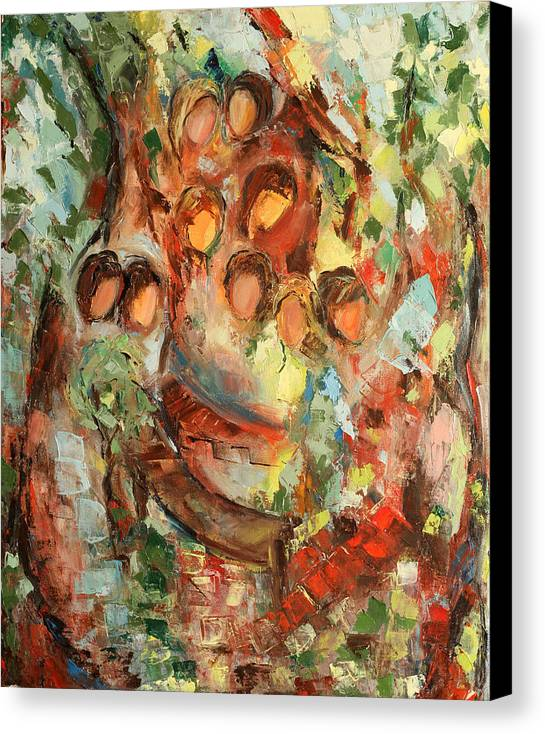 Abstract Canvas Print featuring the painting The Muses by Natia Tsiklauri